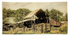 Beach Towel featuring the photograph Hooper Hay Shed by David King