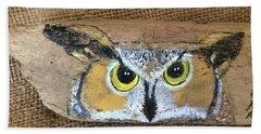 Hoot Owl Beach Towel