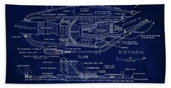 Hoover Dam Blueprint  1935 Beach Towel