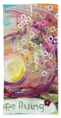 Beach Towel featuring the painting Hope Rising by TM Gand