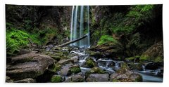 Hopetoun Falls Beach Towel by Mark Lucey