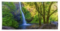 Beach Towel featuring the photograph Horesetail Falls by Jonny D