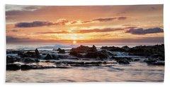 Horizon In Paradise Beach Towel by Heather Applegate