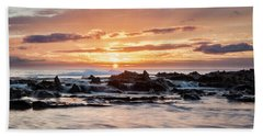 Horizon In Paradise Beach Sheet by Heather Applegate