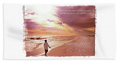Horizon Of Hope Beach Sheet by Marie Hicks