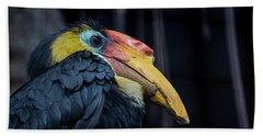 Hornbilled Bird Beach Towel