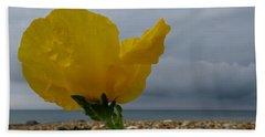 Horned Poppy By The Sea Beach Towel