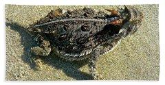 Horny Toad Lizard Beach Towel