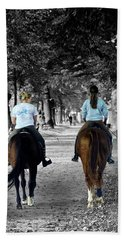Horsback Rider In Hellbrunn Beach Towel