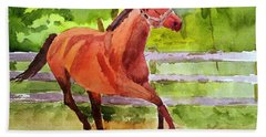Horse #3 Beach Towel by Larry Hamilton