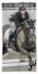 Horse And Rider Beach Towel