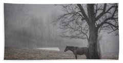 Horse And Tree Beach Towel by Sumoflam Photography