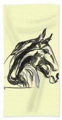 horse - Apple digital Beach Towel