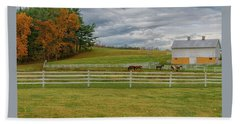 Horse Barn In Ohio  Beach Towel