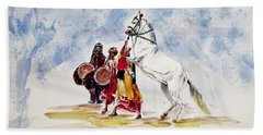 Horse Dance Beach Towel