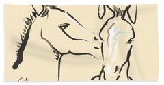 Horse-foals-together 6 Beach Sheet