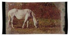 Horse Grazing Beach Towel
