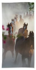 Horse Herd Coming Home Beach Towel