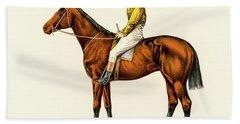 Horse Jockey Beach Towel