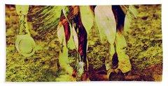 Horse Legs Beach Towel