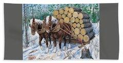 Horse Log Team Beach Sheet