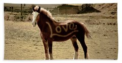 Horse Love Beach Towel