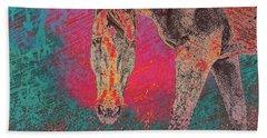 Horse Multi Color Beach Sheet
