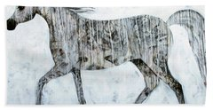 Horse Paint Beach Towel