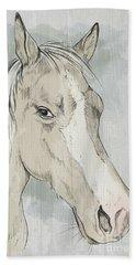 Horse Portrait-farm Animals Beach Sheet