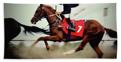Horse Race - Motion Blurred Art Photography Beach Sheet