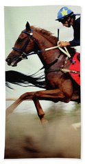 Horse Race - Motion Blurred Art Photography Beach Sheet