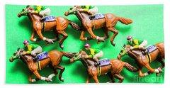 Horse Racing Carnival Beach Towel