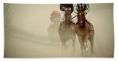 Horse Racing In Dust Beach Sheet