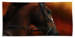 Horse Riding Beach Towel by Suzanne Handel