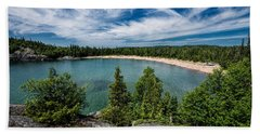 Beach Towel featuring the photograph Horse Shoe Bay by Doug Gibbons