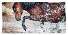 Horse Splash Beach Sheet