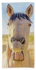 Horse Talk #2  Beach Towel