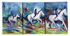 Horse Three II Beach Sheet