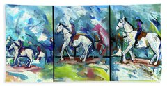 Horse Three Beach Towel