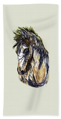 Horse Twins II Beach Towel