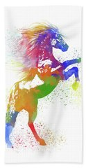 Horse Watercolor 1 Beach Towel