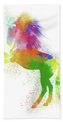 Horse Watercolor 2 Beach Towel