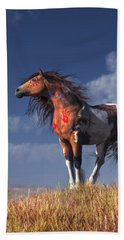 Horse With War Paint Beach Sheet by Daniel Eskridge