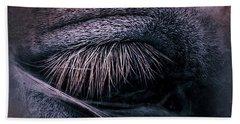 Horses Eye-color Beach Towel