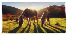 Horses In Austigarmin Beach Towel