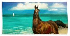Horses In Paradise  Dance Beach Towel