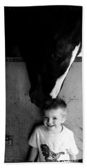 Beach Sheet featuring the photograph Horses Love by Amanda Eberly-Kudamik