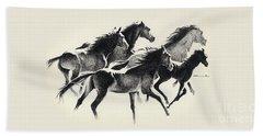 Horses Mug Beach Sheet