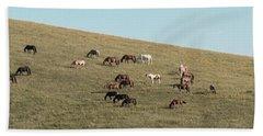 Horses On The Hill Beach Towel