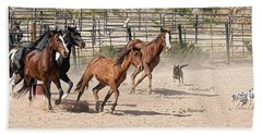 Horses Unlimited #3a Beach Towel